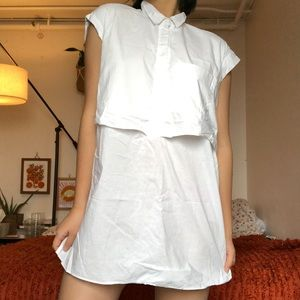 ZARA blouse two piece dress shirt
